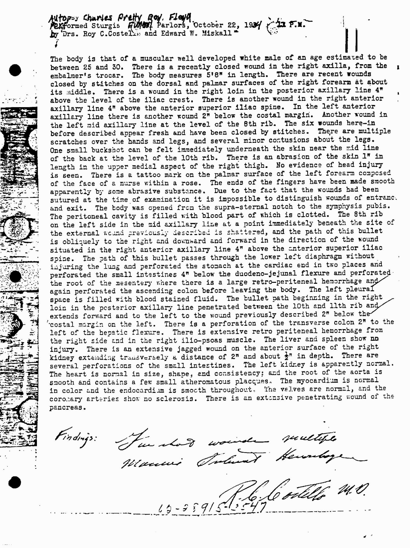 Photo copy of Autopsy of Charles Floyd